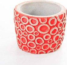 Veramaya Vaso di Fiori sukulent in Cemento Rosso