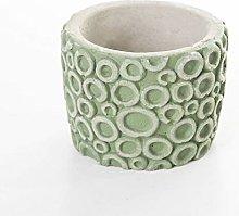 Veramaya Vaso di Fiori sukulent in Cemento Verde