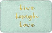 Verde Moderno Live Laugh Love Parete Spazzolato