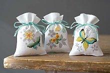 Vervaco Farfalle Pot-pourri Bag Kit Punto Croce,