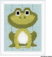 Vervaco - Kit Scatola ultimo Punto, Frog Design,