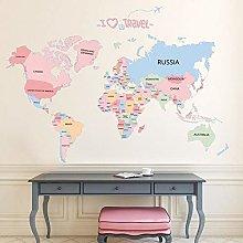 Viaggi Mappa del mondo Mappa Adesivi murali