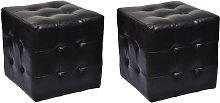 vidaXL 2 Cubi pouf imbottiti, cubo pouf sgabello,