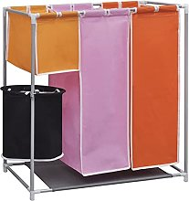 vidaXL 3Section Porta biancheria da lavanderia +