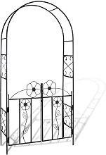vidaXL Arco con porta da giardino per piante