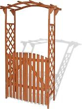 vidaXL Arco da Giardino con Cancello in Legno