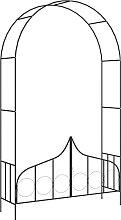 vidaXL Arco da Giardino con Porta Nero 138x40x238