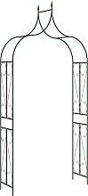 vidaXL Arco da Giardino Nero 120x38x258 cm in Ferro