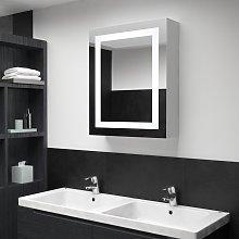 vidaXL Armadietto Bagno con Specchio e LED