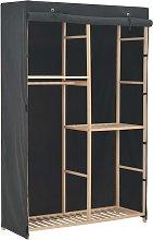 vidaXL Armadio a 3 Ripiani Grigio 110x40x170 cm in