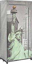 vidaXL Armadio New York 75x45x160 cm in Tessuto