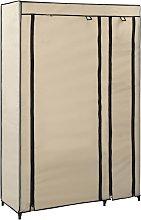 vidaXL Armadio Pieghevole Crema 110x45x175 cm in