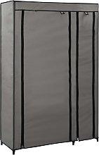 vidaXL Armadio Pieghevole Grigio 110x45x175 cm in