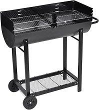 vidaXL Barbecue braciere con griglia a legna e