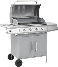 vidaXL Barbecue e Griglia a Gas 4+1 Fornelli