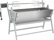 vidaXL Barbecue Girarrosto in Ferro ed Acciaio