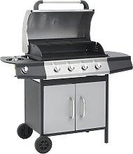 vidaXL Barbecue Griglia a Gas 4+1 Fornelli Nero