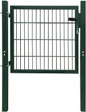 vidaXL Cancello Staccionata 2D (Singolo) Verde 106