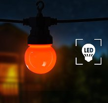 vidaXL Catena Luminosa con 20 Luci Tonde