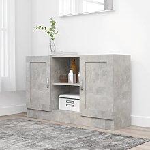 vidaXL Credenza Grigio Cemento 120x30,5x70 cm in