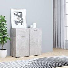 vidaXL Credenza Grigio Cemento 80x36x75 cm in