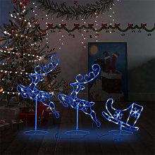 vidaXL Decorazione di Natale Slitta Renne in
