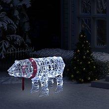 vidaXL Decorazione Luminosa di Natale Orso 45 LED