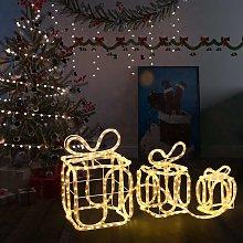 vidaXL Decorazione Natale Scatole Regalo con 180