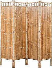 vidaXL Divisore Stanza in 4 Pannelli di bambù