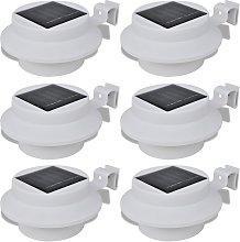 vidaXL Esterno Lampada solare Set 6 pezzi