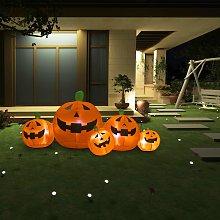 vidaXL Famiglia di Zucche Gonfiabili per Halloween