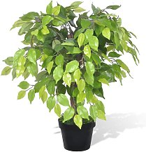 vidaXL Ficus Nano Artificiale con Vaso 60 cm