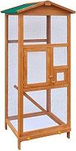 vidaXL Gabbia in Legno per Uccelli 65x63x165 cm -