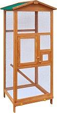 vidaXL Gabbia in Legno per Uccelli 65x63x165 cm