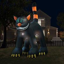 vidaXL Gatto Nero Gonfiabile per Halloween con LED