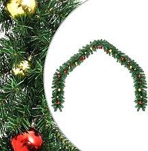 vidaXL Ghirlanda di Natale Decorata con Palline 20