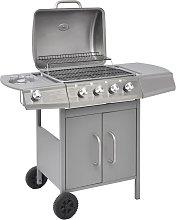 vidaXL Griglia Barbecue a Gas 4+1 Fornelli Argento