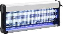 vidaXL Lampada Insetticida Nera Alluminio ABS 40 W