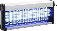vidaXL Lampada Insetticida Nera Alluminio ABS 60 W