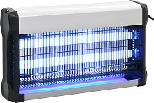 vidaXL Lampada Insetticida Nera in Alluminio ABS