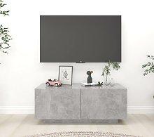 vidaXL Mobile TV Grigio Cemento 100x35x40 cm in
