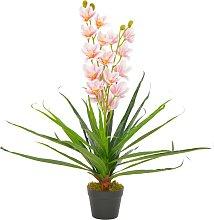vidaXL Orchidea Artificiale con Vaso Rosa 90 cm