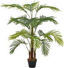 vidaXL Palma Artificiale con Vaso Verde 120 cm