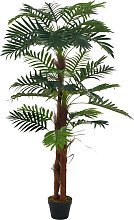 vidaXL Palma Artificiale con Vaso Verde 165 cm