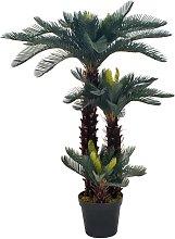 vidaXL Palma di Cycas Artificiale con Vaso Verde