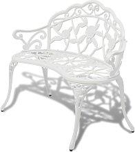 vidaXL Panchina da Giardino 100 cm in Alluminio