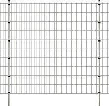 vidaXL Pannelli recinzione da giardino con pali