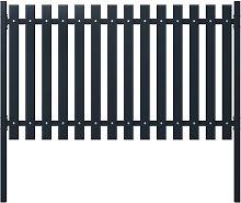 vidaXL Pannello di Recinzione Antracite 174,5x75