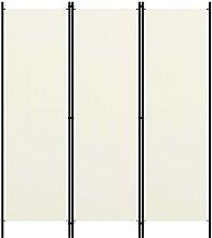 vidaXL Paravento a 3 Pannelli Bianco Crema 150x180