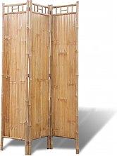 vidaXL Paravento a 3 Pannelli in Bambù
